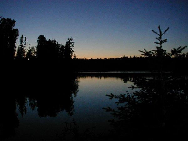 Sunset on the Canadian Boundary Waters