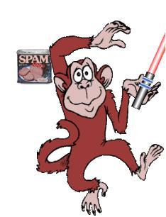 the official spam blocking monkey of occ