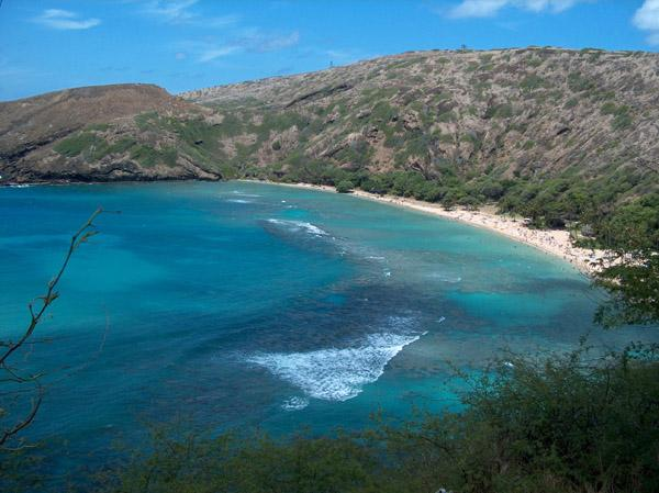 Hanauma Bay in the island of Oahu