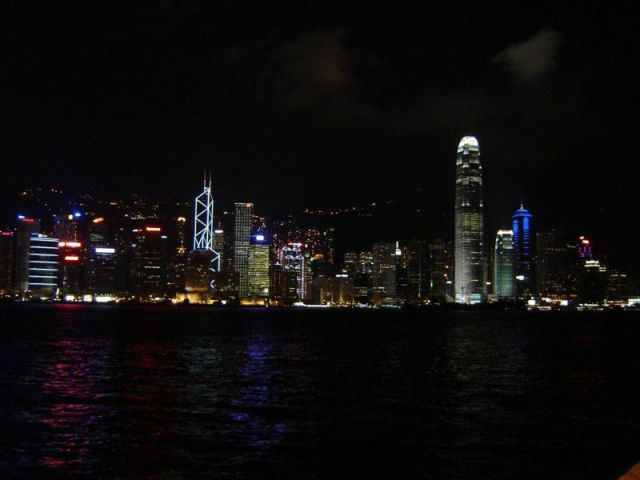 Hong Kong At Night, Taken from Walk of the stars in the harb