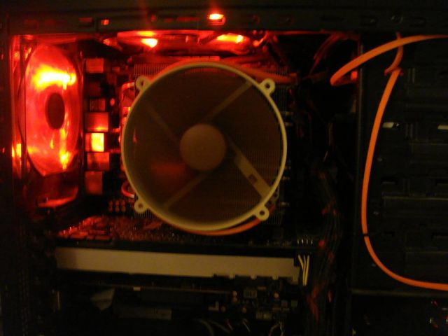 CPU Fan and Video card side shot