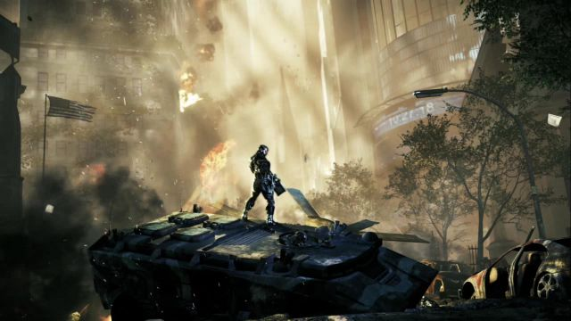 Crysis 2 ingame trailer shot.